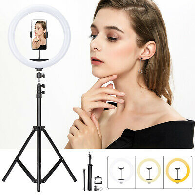 AU15.99 • Buy 12  Dimmable Live Light USB LED Ring Light Diffuser Stand Mirror Set MakeUp Live