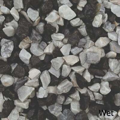 £13.99 • Buy 20mm Black Ice White Blue Gravel Decorative Aggregate Chippings Stone LRS 20kg