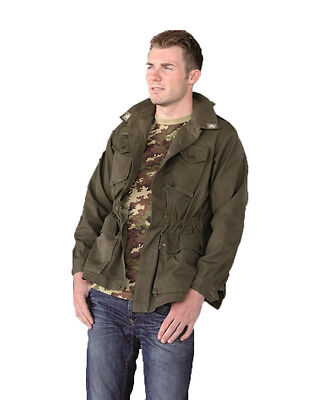 £11.99 • Buy Genuine Italian Army Issue Military Combat Field Shirt Jacket  Olive Drab Used
