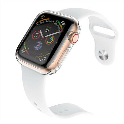 $ CDN6.88 • Buy Apple Watch Series 1 2 3 4 5 6 SE Case TPU Screen Protector Thin 38 40 42 44mm