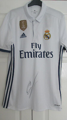 Signed CRISTIANO RONALDO Real Madrid 2016/17 Home Shirt With Proof! PORTUGAL • 140£