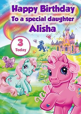 Personalised Birthday Card - My Little Pony - Childrens Girls Daughter Niece  • 3.29£