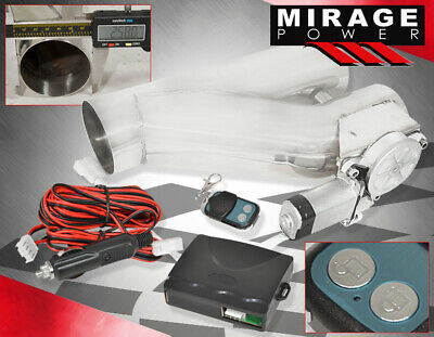 $87.99 • Buy 63mm Electric Cutout/E-Cut Out Valve System +Remote For Exhaust Catback/Downpipe