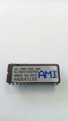 AU19 • Buy AMI BIOS 486 DX ISA ( C )1992 AA1452006, Tested And Works