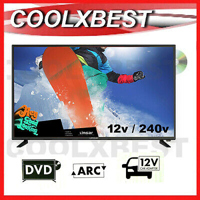 AU169.90 • Buy LINSAR 24  FULL HD 1080p DIGITAL LED TV W DVD PLAYER USB PVR 12v 240v CARAVAN
