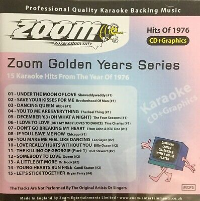 £6.99 • Buy Zoom Golden Years CDG Disc- Karaoke Hits From The Year 1976