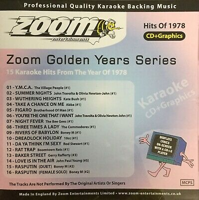 £6.99 • Buy Zoom Golden Years CDG Disc- Karaoke Hits From The Year 1978