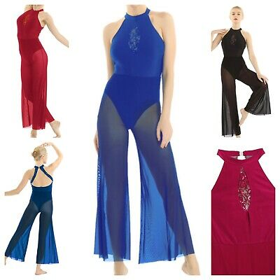 Contemporary Lyrical Dance Costume.Catsuit,All In One.Modern.Stage Leotard.UK • 22.99£