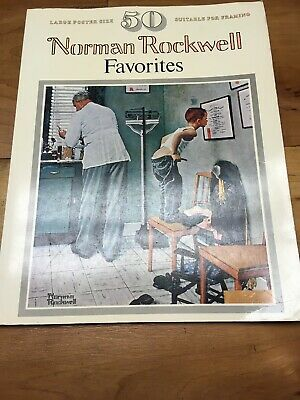 $ CDN9.89 • Buy 50 Norman Rockwell Favorites 50 Large Size Coffee Table Posters 1977 104 Pages