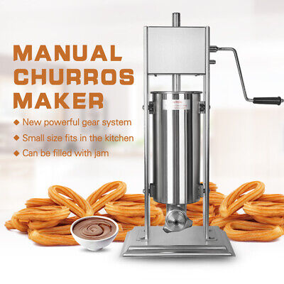 Commercial Manual Vertical Churros Spanish Donut Maker With 3 Nozzles Stainless • 290.70£