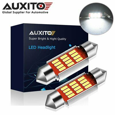 2x AUXITO Canbus 36MM C5W 239 272 Festoon 12SMD LED Number Plate Light Bulb • 4.43£