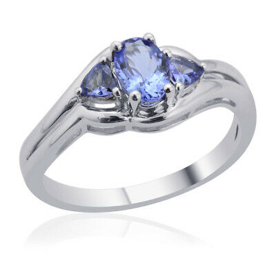 $22.33 • Buy 925 Sterling Silver Blue Tanzanite Statement Ring Mothers Day Gifts Size 6.75