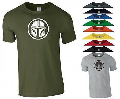 The Mandalorian Helmet T Shirt Star Wars Gym Exercise Birthday Gift Men Tee Top • 8.99£
