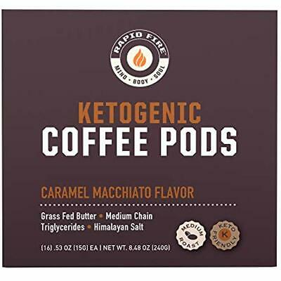 $21.68 • Buy Ketogenic Diet Keto Coffee Pods Single Serve K Cup Caramel Macchiato Weight Loss