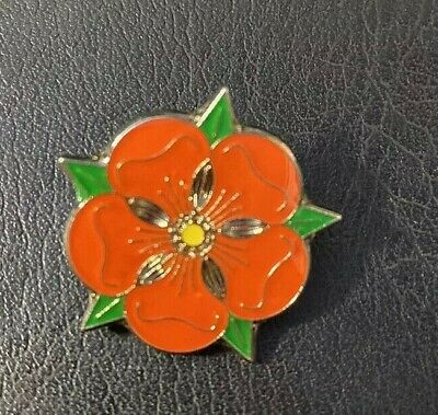 Lancashire Red Rose Enamel Lapel Pin Badge (T295) Fast & Free Delivery • 4.29£