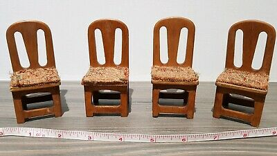 Antique Dolls House Furniture - Chairs - Kitchen / Dining Room Accessories  • 8.99£