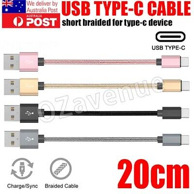 AU6.59 • Buy AU Short 15CM USB-C Type-C 3.1 Fast Charging Data Sync Cable Charger Cord Lot