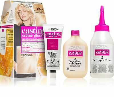LOreal Casting Creme Gloss Semi Permanent Hair Colour Light Pearl Blonde 1021 • 2.99£
