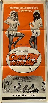 Come Play With Me Australian Daybill (1977) Chantrell Art • 129.99£