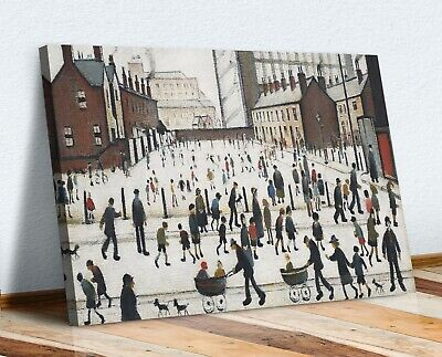 Ls Lowry Winter In Pendlebury CANVAS WALL ART PRINT PICTURE PAINTING FRAMED • 12.99£