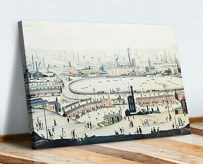 CANVAS WALL ART ARTWORK FRAMED PRINT PAINTING Ls Lowry The Pond • 16.99£