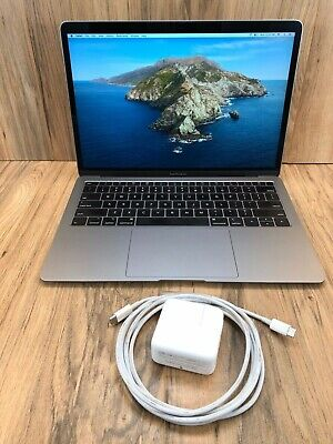 "$875 • Buy Apple MacBook Air 2018 Space Gray 13"" Touch ID 256GB SSD 8GB RAM 1.6GHz Tested"