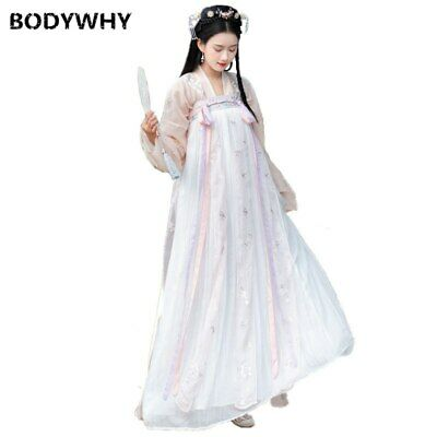 $ CDN49.26 • Buy Traditional Hanfu Costume Embroidery Oriental Long Sleeve Chinese Style Princess