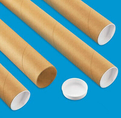 $23.62 • Buy 4 Mailing Tubes With End Caps (2  X 30 ) Shipping Poster Artwork Print Packing
