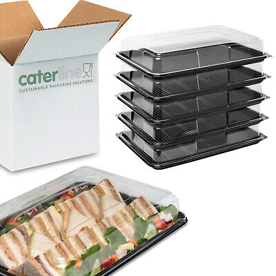 10 X Large Catering Platters/Trays & Lids | For Sandwiches, Buffets And Parties  • 13.49£