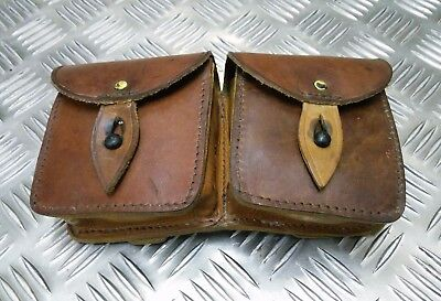 Genuine Vintage Military Issue Tan Double Leather Ammo / Utility Pouch Faulty • 13.99£