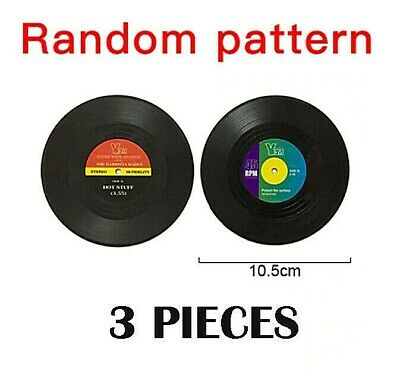 5 Pcs Vinyl Record Drink Coasters Table Placemats. Heat Resistant. • 2.99£