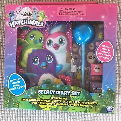 AU30.11 • Buy New Hatchimals Secret Diary Set With Lock & Key Pen Stamp Pad Stamper Stickers