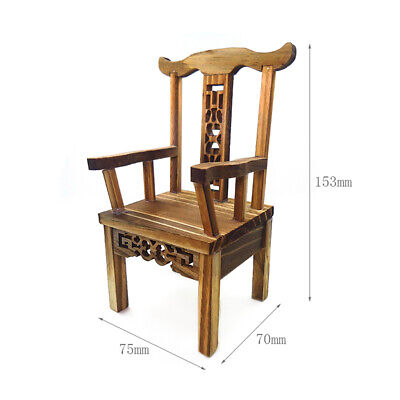 Lots 3 1/12 Scale Tea Table Armchair Wooden Furniture Kit Dolls House Decors • 7.84£