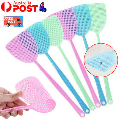 AU12.99 • Buy 6 Pcs Plastic Fly Swatter Manual Swat Pest Control With Long Handle Assorted AU