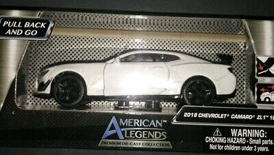 $15 • Buy American Legends 2018 White CHEVROLET CAMARO ZL1 1LE 1/43 Scale New