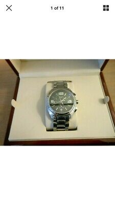 View Details Longines Lungomare Mens Chronograph Watch / Date Stainless Steel Bracelet  Boxed • 350.00£