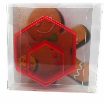 Hexagon Cookie Cutter Set Of 2, Biscuit, Pastry, Fondant Cutter • 2.99£