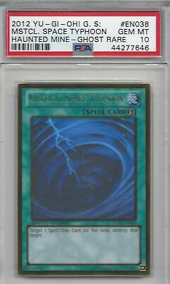AU1406.55 • Buy Yugioh Mystical Space Typhoon Ghost Rare GLD5-EN038 PSA 10 GEM MINT *POP 8 OF 30