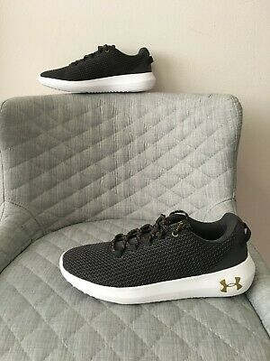 AU49 • Buy NEW - Under Armour Ripple Sneakers Black Lace Up Trainers Size US/AU 8.5