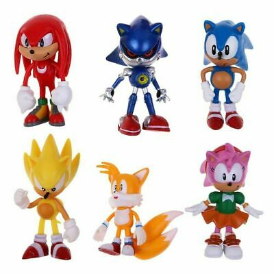 AU19.99 • Buy 6PCS Paw Sonic The Hedgehog Action Figure Model Kids Character Toys Cake Topper