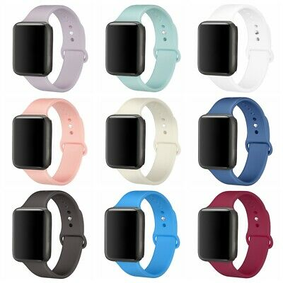 $ CDN5.99 • Buy Silicone Replacement Strap Sport Band For Apple Watch Series 5/4/3 38/40/42/44mm