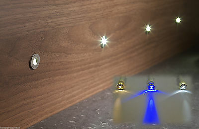 £24.99 • Buy 6 X LED KITCHEN PLINTH LIGHTS KICK BOARDS COOL WARM WHITE OR BLUE - ROUND 15mm