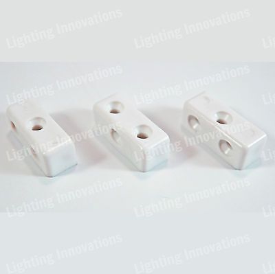 White Modesty Mod Blocks Kitchen Cabinet Cupboard Fixing Joint Connector Blocks • 1.59£