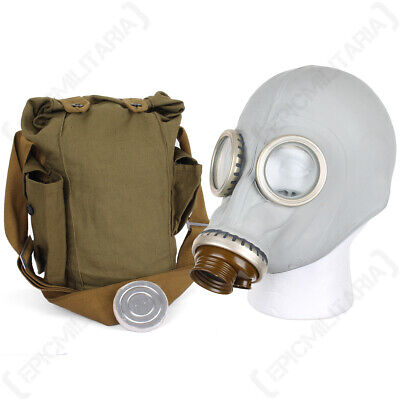 £7.95 • Buy Russian GP5 Gas Mask - Grey Soviet GP-5 Halloween Costume With Bag No Filter