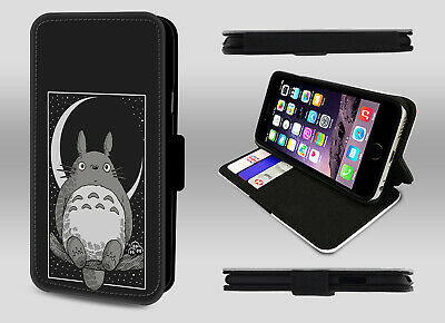 My Neighbour Totoro Japanese Cartoon Grey Ghibli Wallet Leather Phone Case Cover • 9.95£