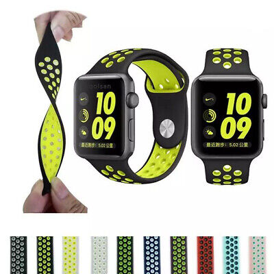 $ CDN4.99 • Buy Silicone Sport IWatch Band Strap For Apple Watch Series 5 4 3 38/42/40/44/mm