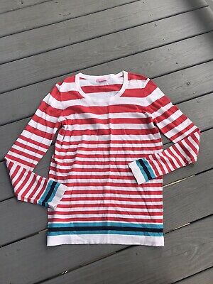$20 • Buy Lilly Pulitzer Size Large Pullover Striped Sweater