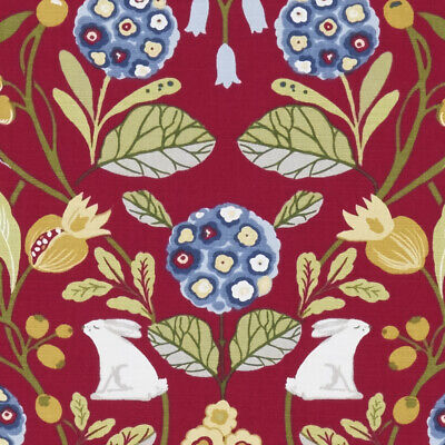 Clarke And Clark Forester Rouge Cotton PVC WIPE CLEAN Tablecloth Oilcloth • 13.99£