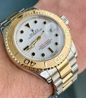 $ CDN13005.74 • Buy 2003 Rolex Yachtmaster 16623 Steel & 18k White Dial 40mm W/ Box And Papers