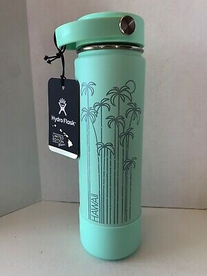 $80 • Buy New Hydro Flask Limited Edition Hawaii Exclusive 2019 Seafoam Teal (Mint) 24 Oz